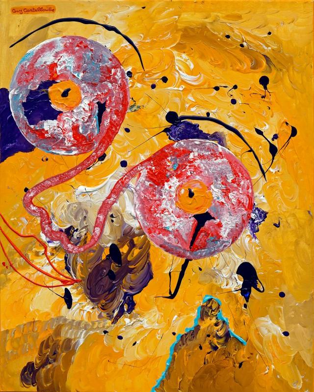 Acrylique sur toile de lin - 100 x 80 cm