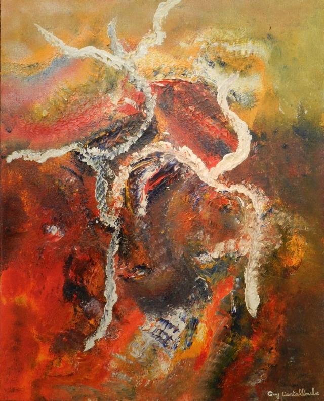 """""""L'Envol""""   Acrylique sur toile de lin – 100 x80 cm - 2017"""